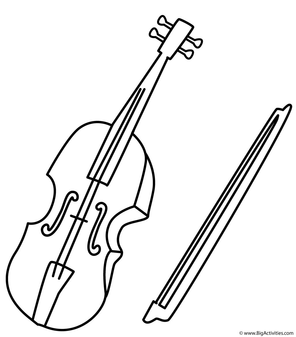 Violin coloring #18, Download drawings