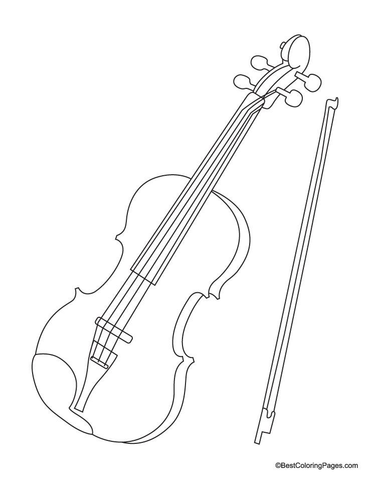 Violin coloring #8, Download drawings