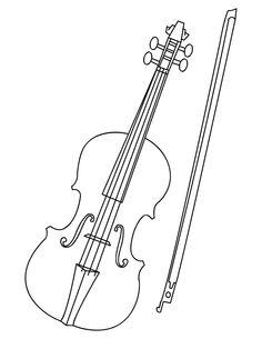 Violin coloring #13, Download drawings