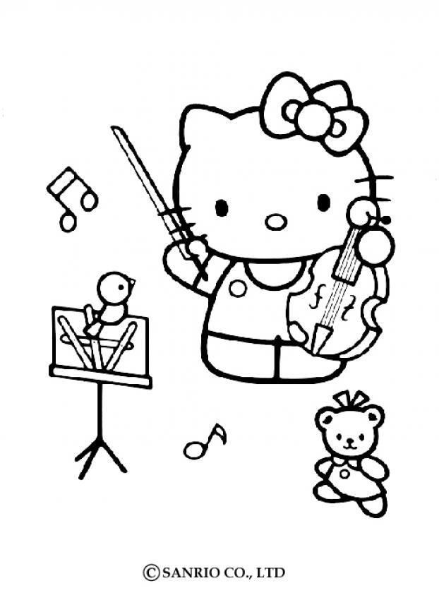 Violin coloring #4, Download drawings