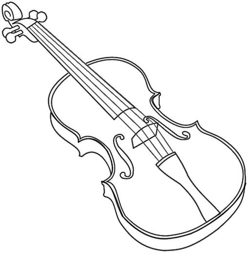 Violin coloring #17, Download drawings