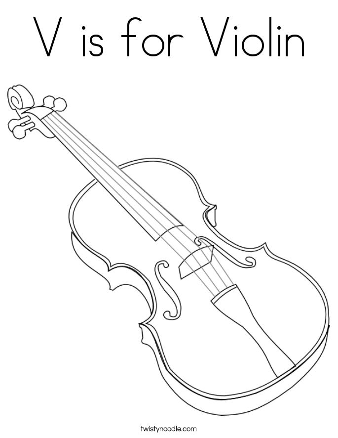 Violin coloring #19, Download drawings