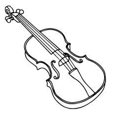 Violin coloring #7, Download drawings