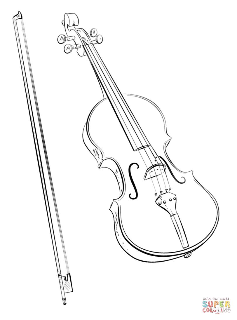 Violin coloring #16, Download drawings