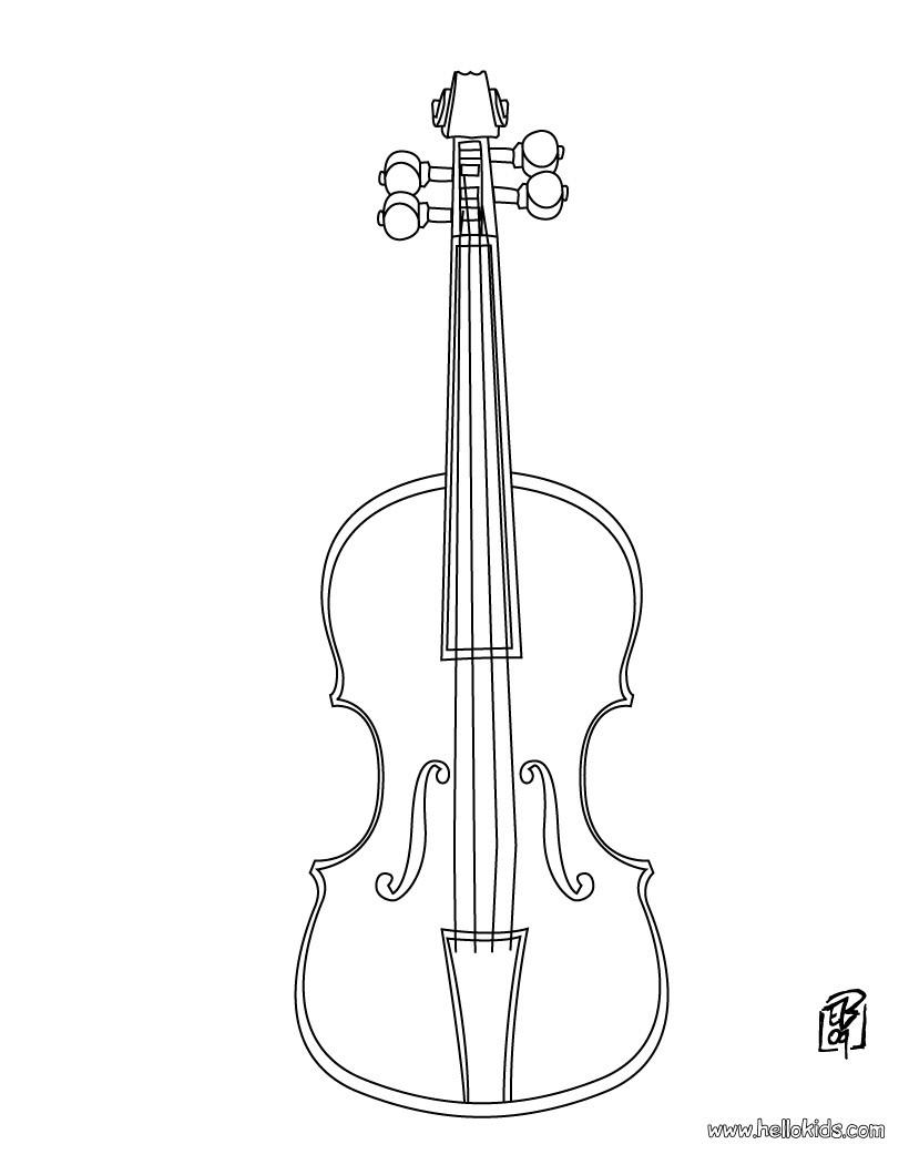 Violin coloring #9, Download drawings