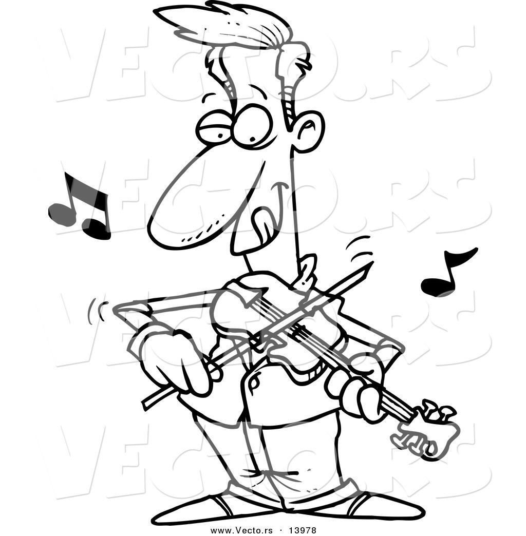 Violinist coloring #10, Download drawings