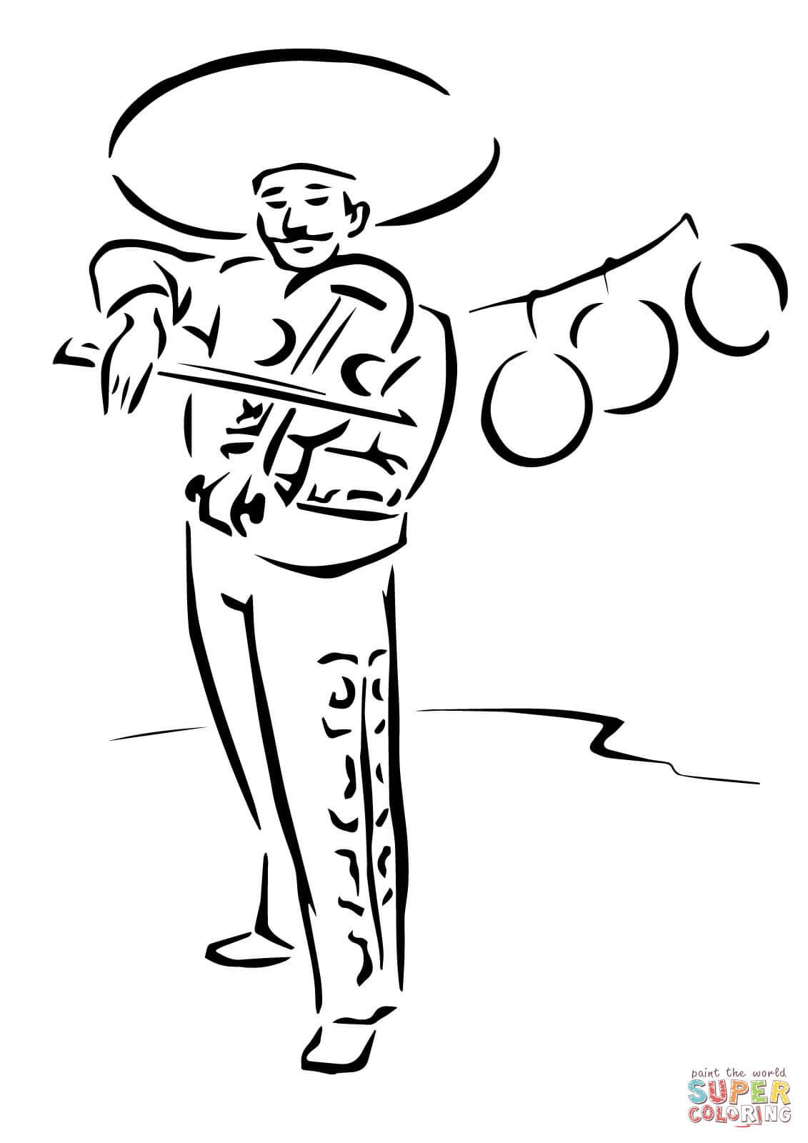 Violinist coloring #4, Download drawings