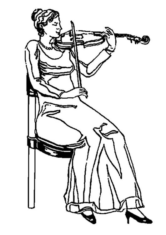 Violinist coloring #2, Download drawings