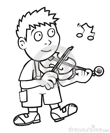Violinist coloring #13, Download drawings