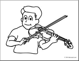 Violinist coloring #6, Download drawings