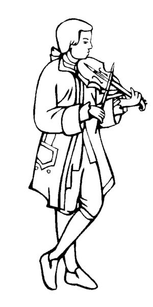 Violinist coloring #19, Download drawings