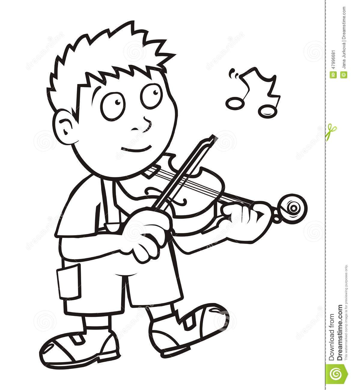 Violinist coloring #16, Download drawings