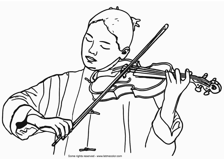 Violinist coloring #7, Download drawings