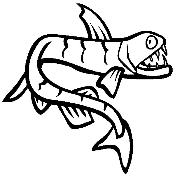 catching viper fish coloring pages - photo#4