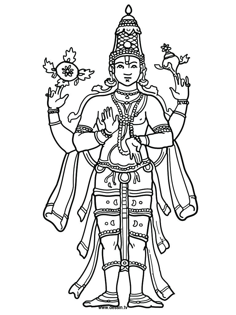 Vishnu coloring #8, Download drawings