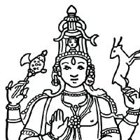 Vishnu coloring #14, Download drawings