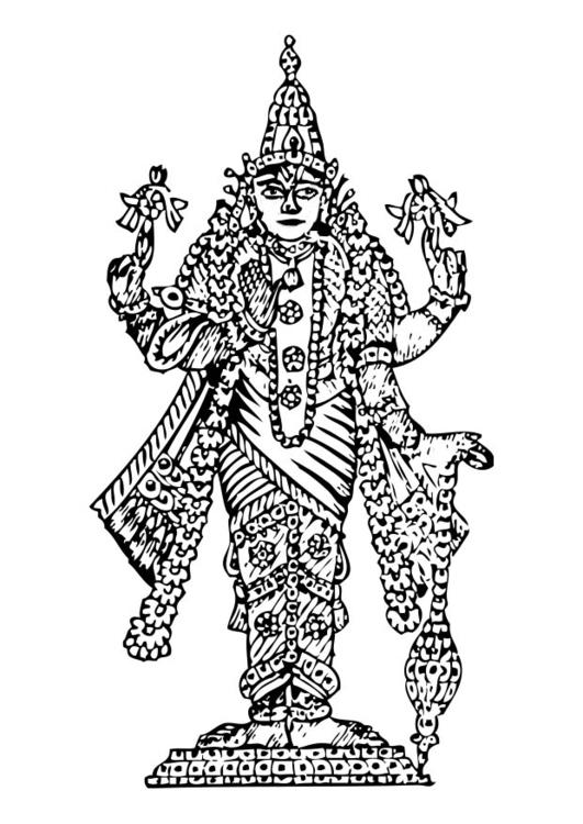 Vishnu coloring #4, Download drawings