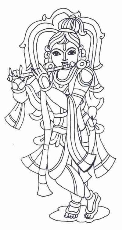 Vishnu coloring #6, Download drawings