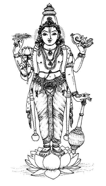Vishnu coloring #9, Download drawings
