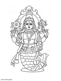 Vishnu coloring #11, Download drawings