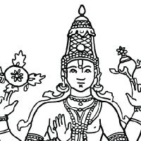 Vishnu coloring #2, Download drawings