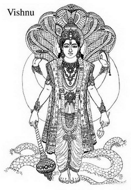 Vishnu coloring #10, Download drawings