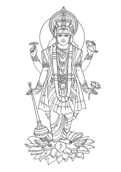 Vishnu coloring #20, Download drawings