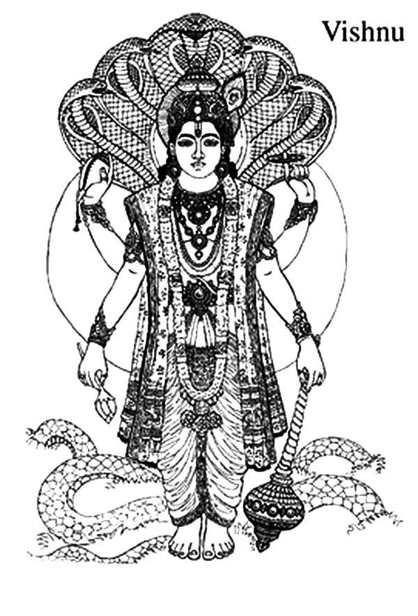 Vishnu coloring #18, Download drawings