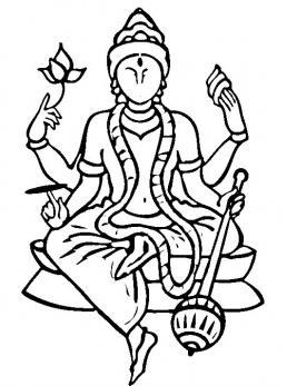 Vishnu coloring #16, Download drawings