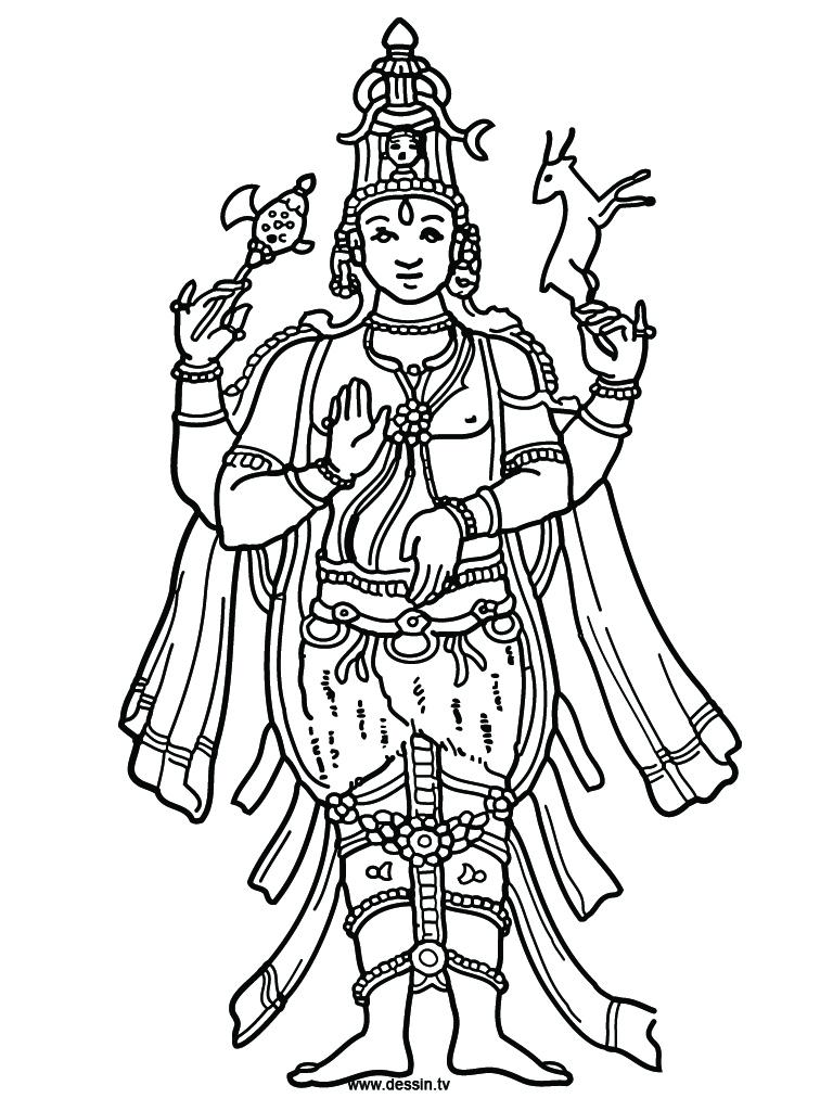 Vishnu coloring #3, Download drawings