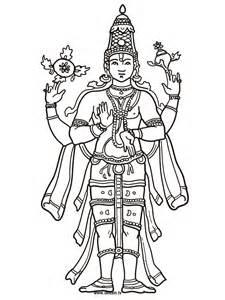 Vishnu coloring #17, Download drawings