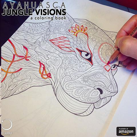 Visionary coloring #1, Download drawings