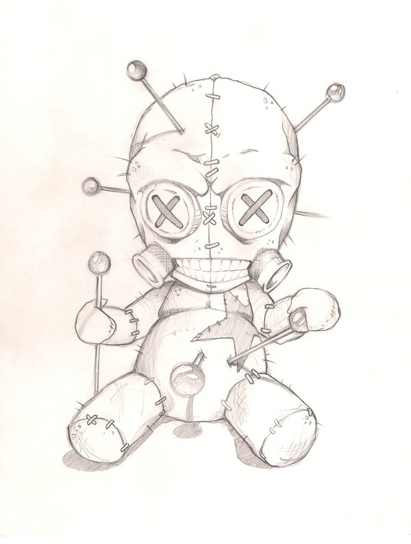 Vodoo Doll coloring #5, Download drawings
