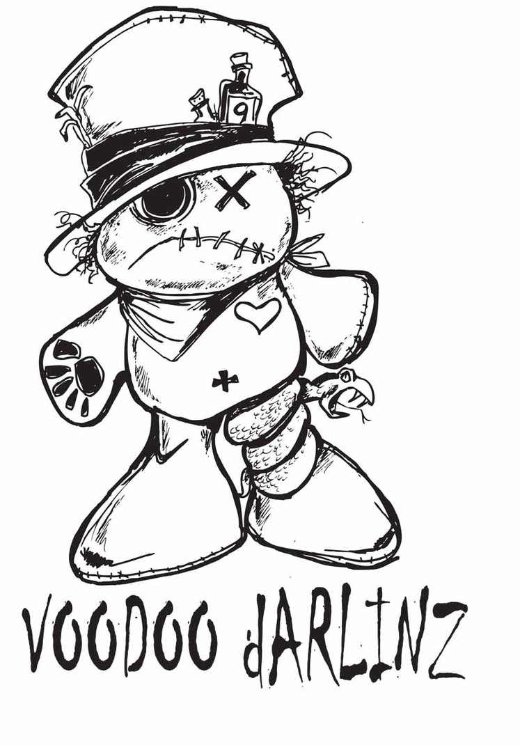 Vodoo Doll coloring #8, Download drawings