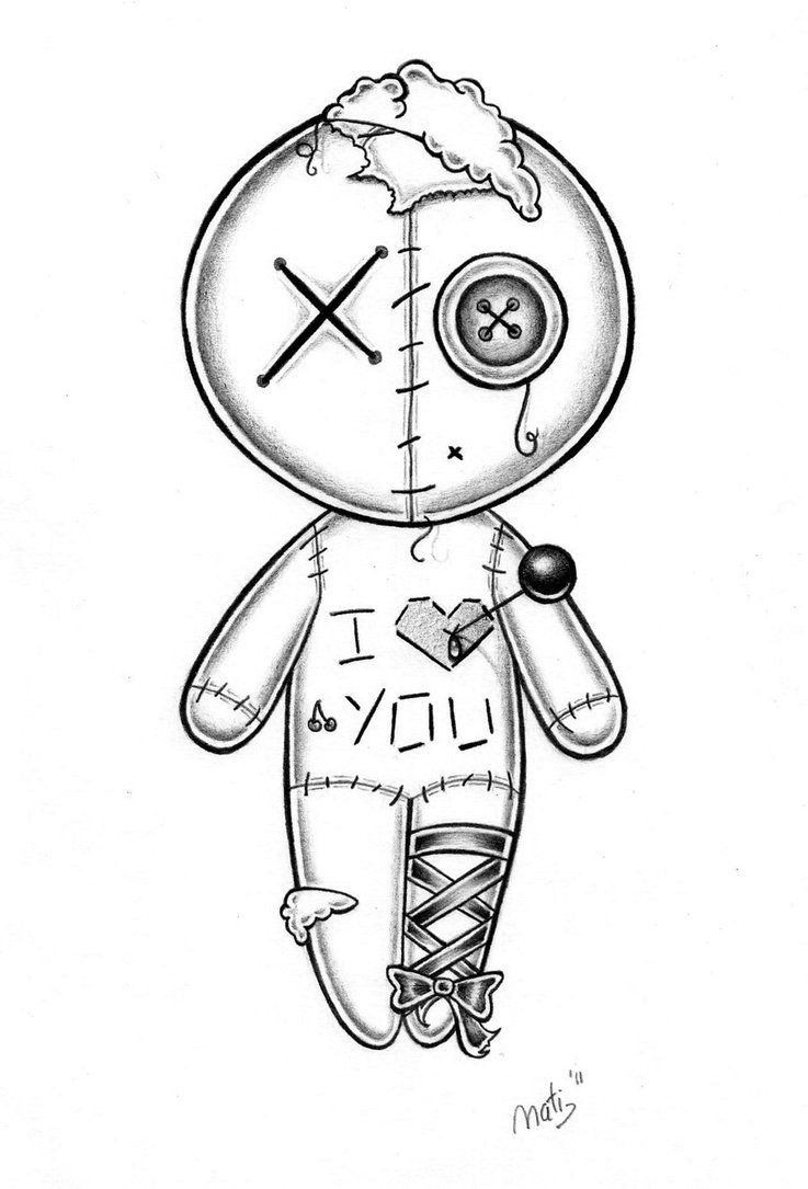 Vodoo Doll coloring #7, Download drawings