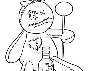 Voodoo coloring #11, Download drawings