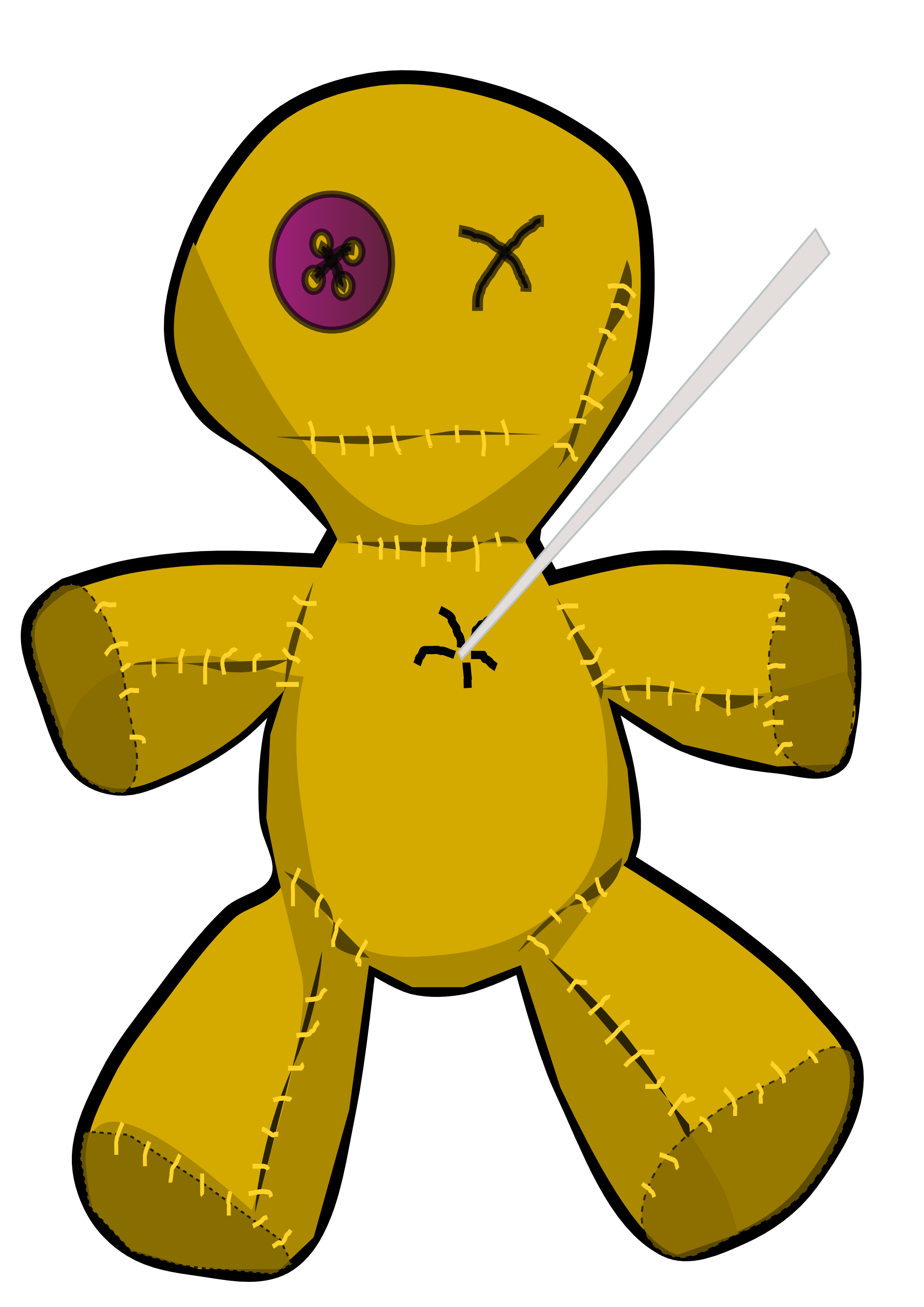 Vodoo Doll coloring #3, Download drawings