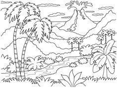 Vulcano Island coloring #9, Download drawings