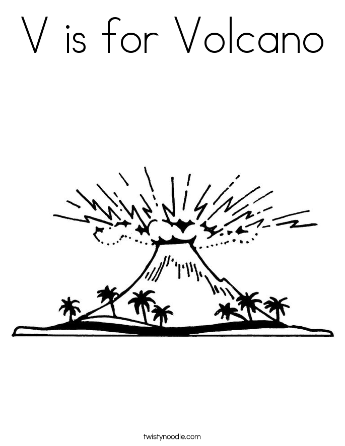 Volcano coloring #5, Download drawings