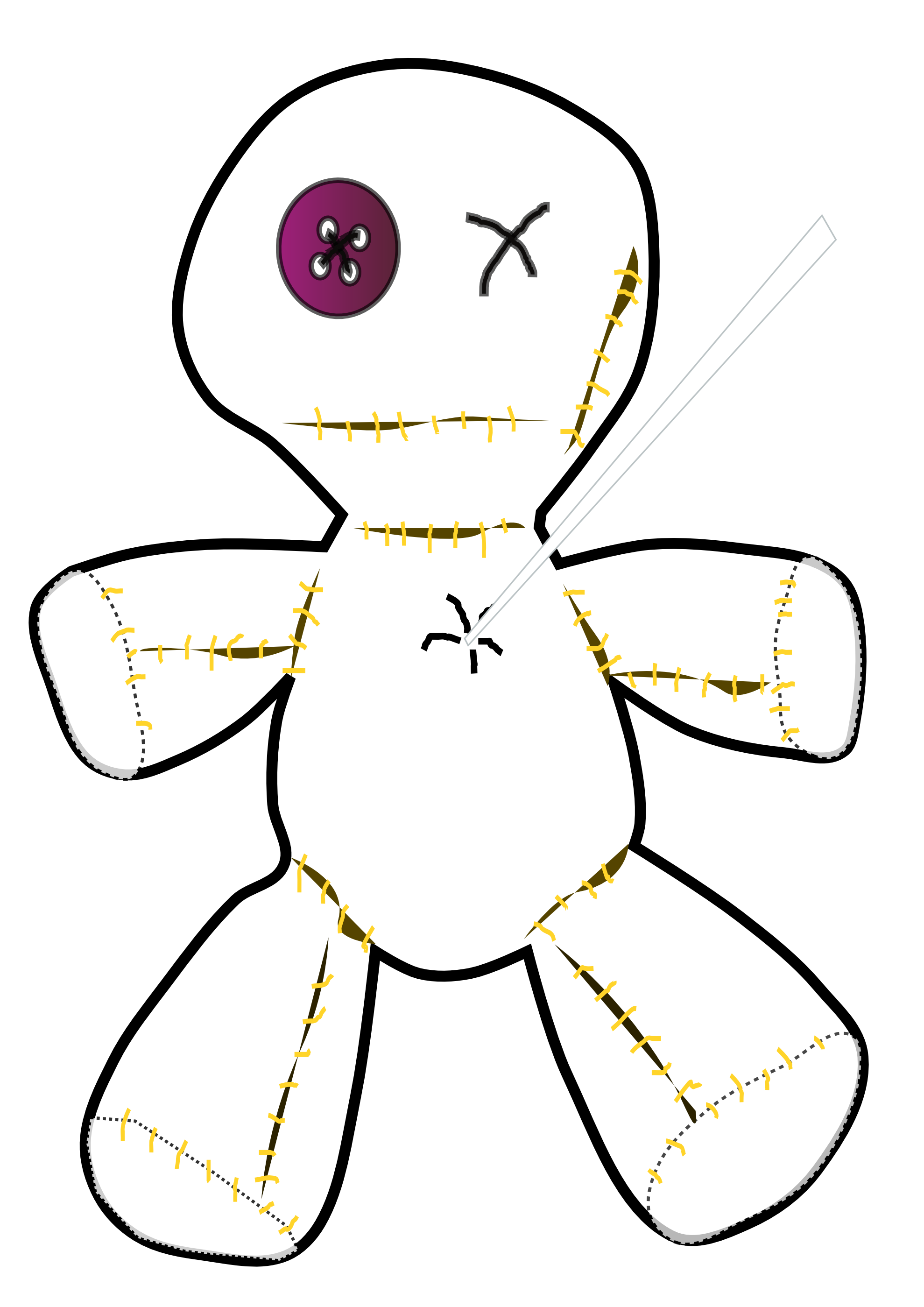 Vodoo Doll coloring #4, Download drawings