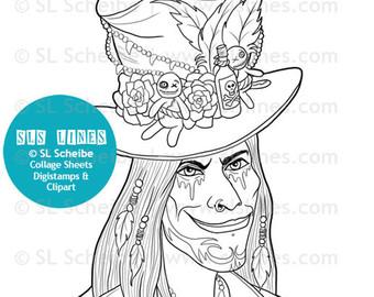 Voodoo coloring #3, Download drawings