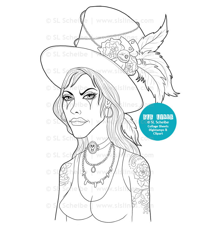 Voodoo coloring #16, Download drawings