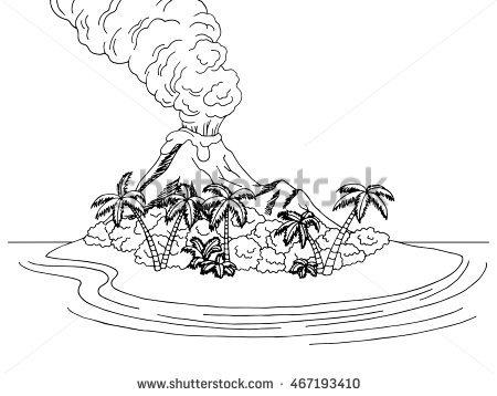 Vulcano Island coloring #11, Download drawings