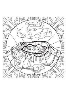 Vulcano Island coloring #10, Download drawings