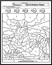 Vulcano Island coloring #2, Download drawings
