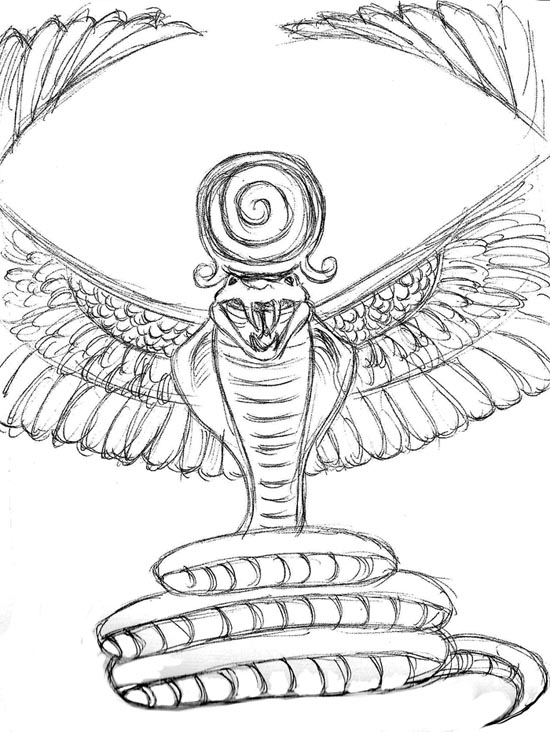 Wadjet (Deity) coloring #9, Download drawings