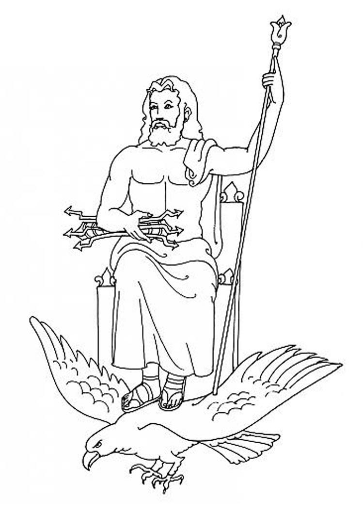 Zeus coloring #1