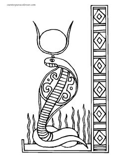 Wadjet (Deity) coloring #15, Download drawings