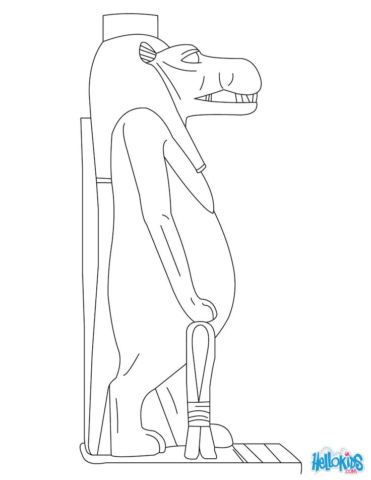 Wadjet (Deity) coloring #7, Download drawings