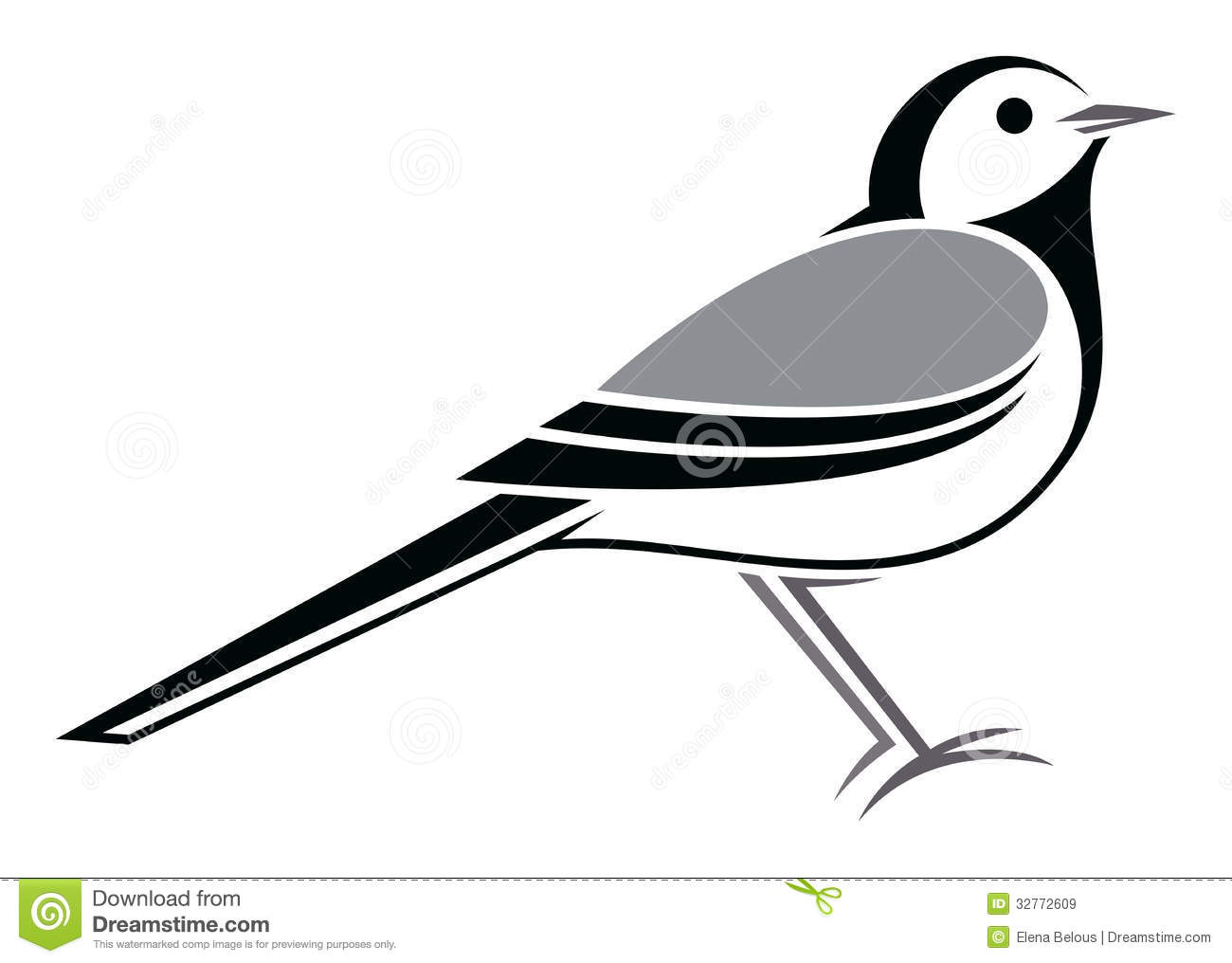 Wagtail clipart #17, Download drawings